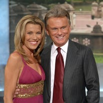 "Vanna White and Pat Sajak from ""Wheel of Fortune."" A Rice man recently won $20,000 in prizes and a cruise on the popular game show."