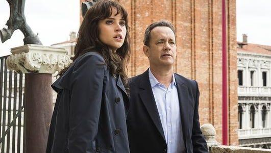 Felicity Jones and Tom Hanks star in 'Inferno,' based on the best-selling Dan Brown novel.