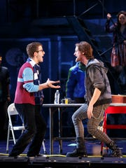 The travelling Broadway production of Rent will be making a stop in Evansville Wednesday for the 20th anniversary of the show. In this photo Danny Harris Kornfeld and Kaleb Wells (from left to right.)