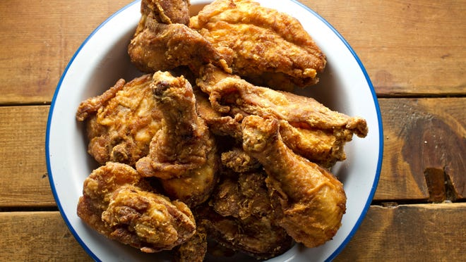 Come race day, many people tote coolers, bags and baskets full of picnic fixings, including lots of fried chicken, take-out and homemade. A Chesterfield woman on Facebook told of frying 408 pieces for race day in 2017.