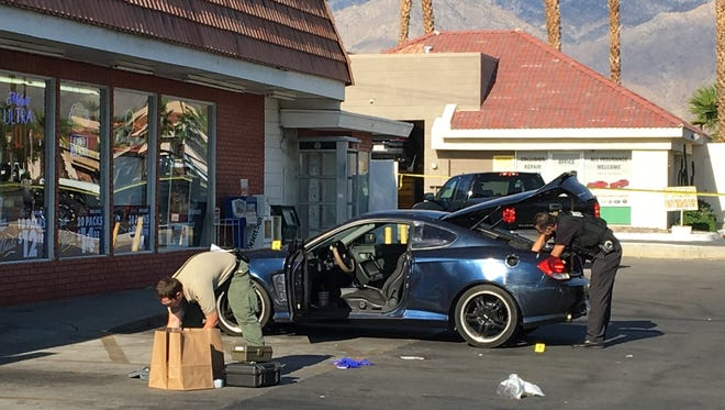 Authorities investigate a fatal shooting outside a convenience store on Ramon Road in Cathedral City. The victim was identified as a 26-year-old Cathedral City resident.