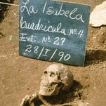 This skeleton was taken from the cemetery at La Isabela, the ill-fated colony founded by Christopher Columbus in the New World in 1494.