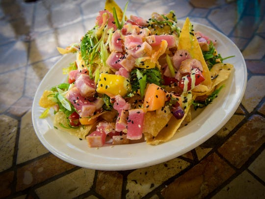 Tuna nachos at Mister C's Beach Bistro in Allenhurst.
