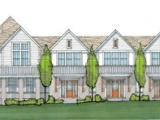 A rendering of The Rosedale Cottages.