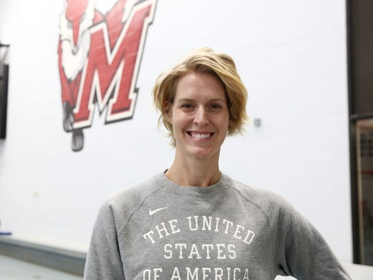 Olympic gold medalist Betsey Armstrong at  Marist College