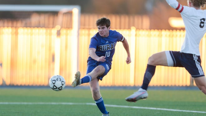 Washburn Rural senior soccer standout Ethan Hensyel leads the Junior Blues with 21 goals and 12 assists heading into Friday's Class 6A state semifinals.