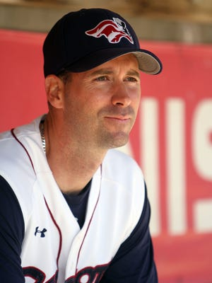 Brett Jodie, manager of the Somerset Patriots
