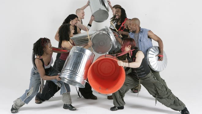"""""""STOMP"""" will be on the Emens Auditorium stage at 7:30 p.m. March. 2."""
