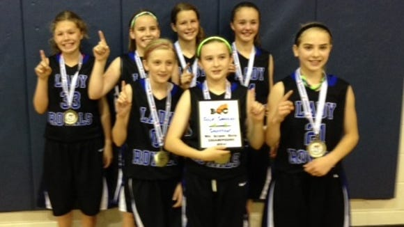 The WNC Lady Royals 5th grade basketball team.