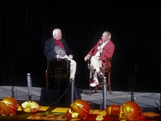 Bobby Bowden gave a short Q&A after a showing of the