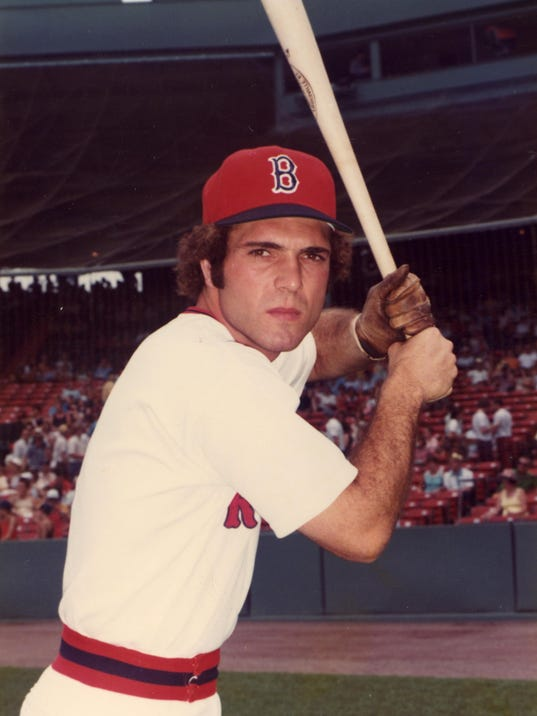 RED SOX OUTFIELDER BERNIE CARBO POSES AT FENWAY, 1974-1977