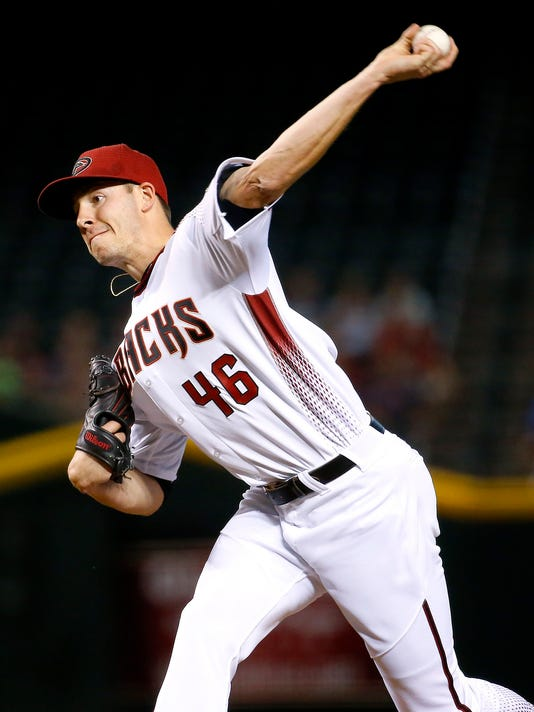 Arizona Diamondbacks starting pitcher Patrick Corbin (46) throws during the first inning of a baseball game against the Colorado Rockies, Wednesday, April 6, 2016, in Phoenix. (AP Photo/Matt York)
