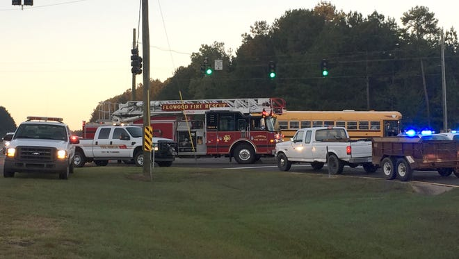 Accident in front of Highland Bluff Elementary School in Flowood, Miss.
