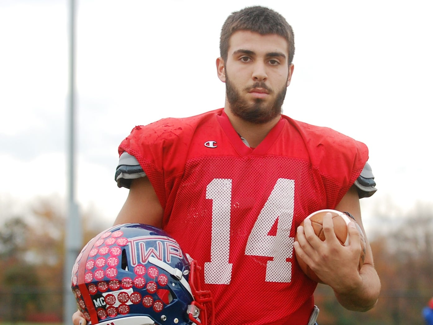 Washington Township senior Nick Grosso had two touchdown catches in the Minutemen's victory over Williamstown on Thanksgiving Day.