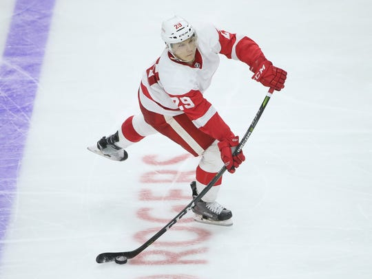 Red Wings defense prospect Vili Saarijarvi had some growing pains in his first year of pro hockey, but he's a smart, mobile player who should figure things out.