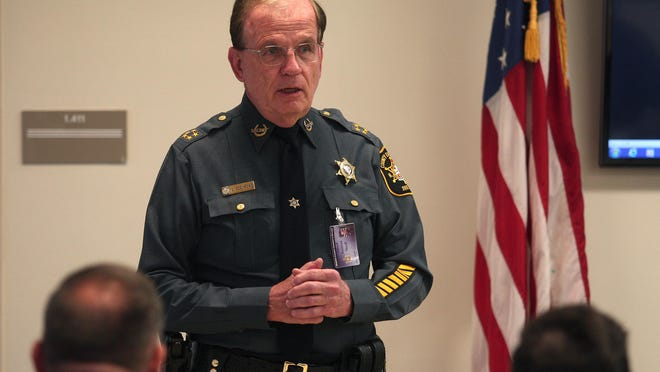 Daily Record file photo - Morris County Sheriff Edward V. Rochford Sheriff Ed Rochford speaks during the Partnership for a Drug Free America and DEA hosted symposium for physicians at the Morris County Jail. April 30, 2015.