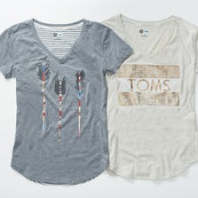These T-shirts for women are part of the TOMS for Target collection, available beginning Nov. 16