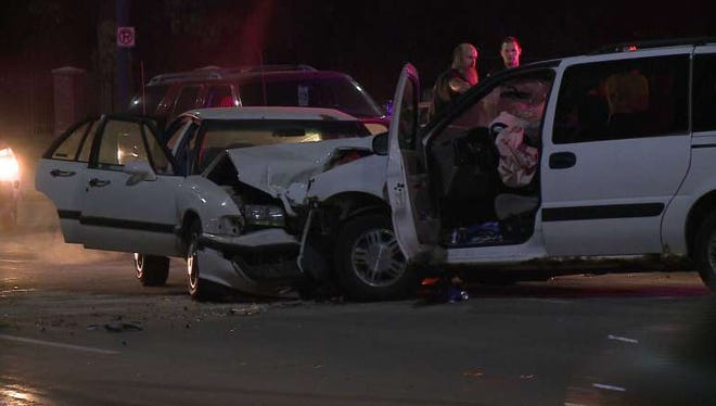 Police investigated a hit and run crash Tuesday night.