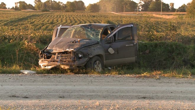 A two-vehicle crash in Dallas County sent both drivers to the hospital Monday evening, authorities said.