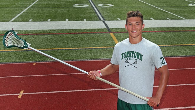 Brett Makar, who is the boys lacrosse player of the year was photographed at Yorktown High School June 29, 2017.