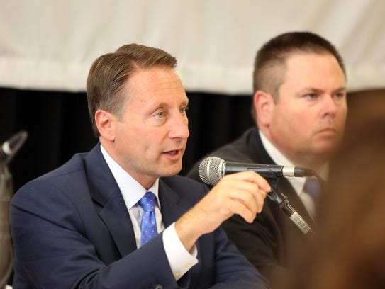 County executive Rob Astorino speaks during a panel