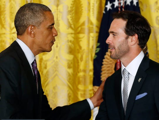 Jimmie Johnson needed Secret Service to find golf ball