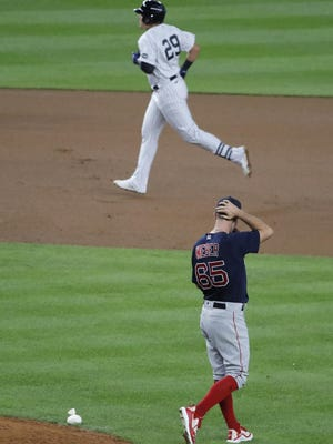 Gio Urshela's homer against Ryan Weber was one of several turning points that went against the Red Sox on Friday.