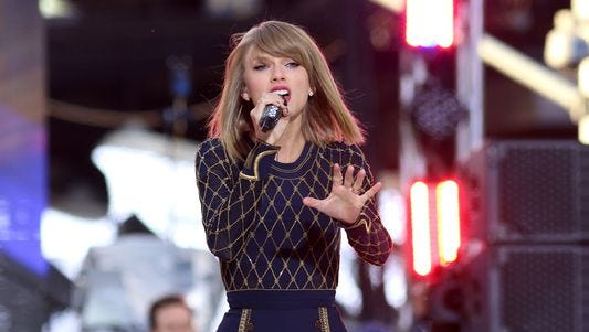Taylor Swift performs on ABC's 'Good Morning America' in Times Square in late October.