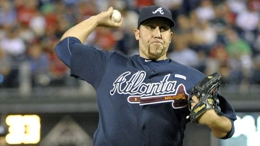 Aaron Harang, 36, spent last season with the Atlanta Braves where he posted a 12-12 record in 33 starts with a 3.57 ERA.