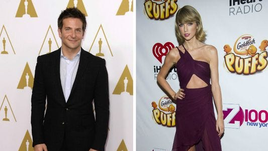 Bradley Cooper (left) and Taylor Swift.