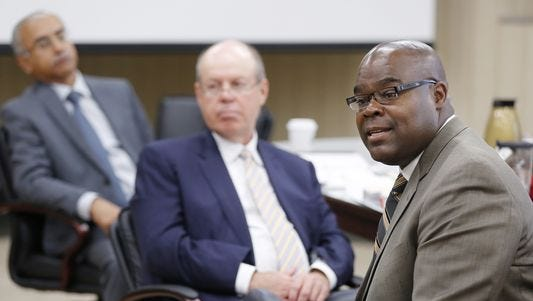 McDonald's Corp. president and CEO Don Thompson (right) will leave the burger chain in March after nearly 25 years with the company. Thompson received a bachelor of science degree in mechanical engineering from Purdue University and has served on Purdue's Board of Trustees since 2009.