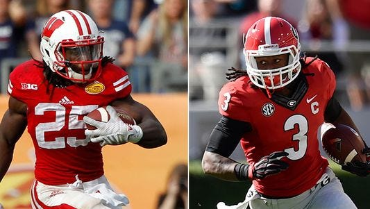 Wisconsin's Melvin Gordon and Georgia's Todd Gurley lead a deep running back class in the 2015 NFL draft.