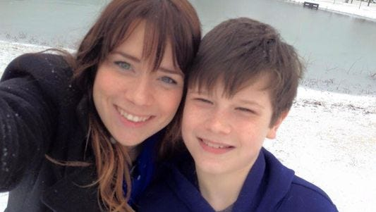 Good Samaritans Kristi Clark and her son Carter Oakley, 10, were killed Monday night as she tried to help passengers of an SUV involved in a crash on I-65 in Franklin.
