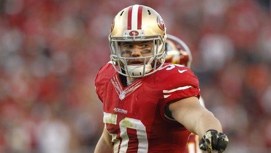 Former San Francisco 49ers linebacker Chris Borland.