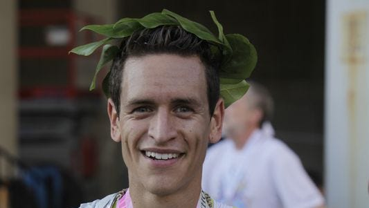 Californian Sergio Reyes has won the Flying Pig Marathon a record four times, including three straight, but a foot injury will keep him out of this year's race.