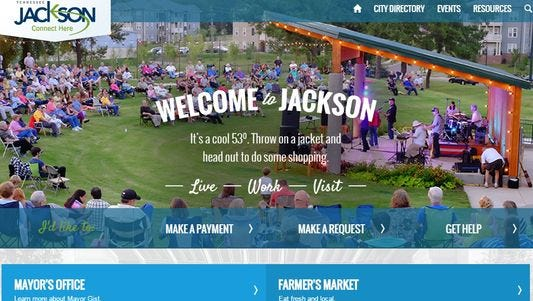 The city of Jackson's  homepage.