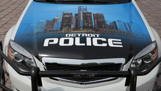 Detroit Police Department squad car.