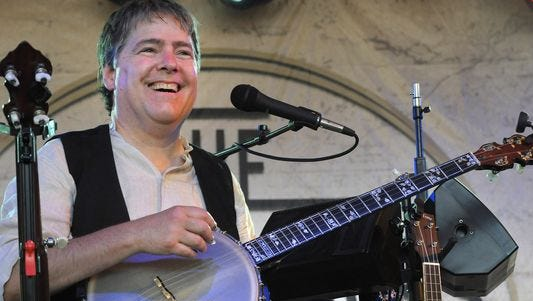 Bela Fleck performs at the Bonnaroo Music and Arts Festival on June 14, 2015, in Manchester, Tenn.
