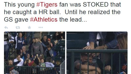 The roller coaster of emotions among Detroit Tigers fans at Comerica Park.