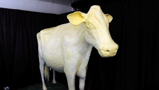 What will stand next to the butter cow at the 2015 Iowa State Fair?