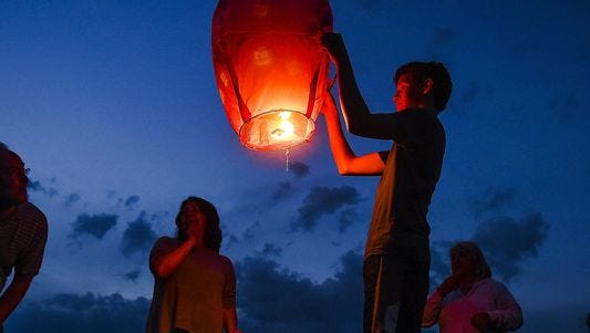 Sky lanterns, also called Chinese lanterns or Kongming lanterns, are being banned in Canton.