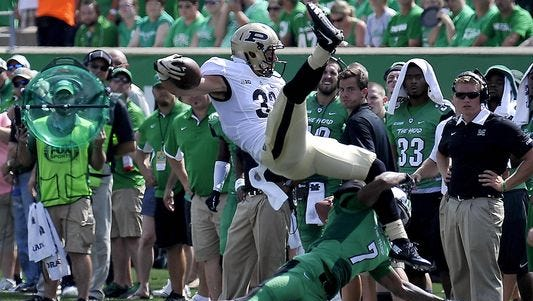 Purdue receiver Danny Anthrop during the Boilermakers' season-opening loss at Marshall.