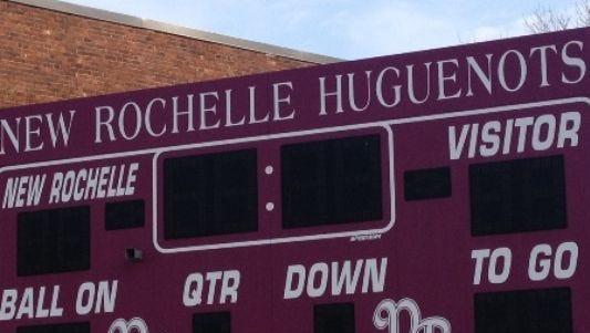 New Rochelle scoreboard.