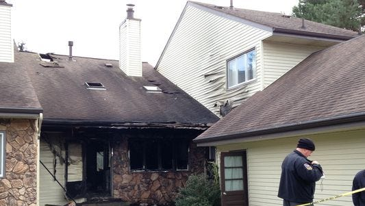 A man died after he was found in a condominium fire in Grand Ledge on Friday.