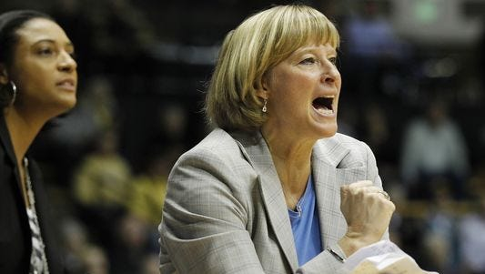 Purdue coach Sharon Versyp will try to lead the Boilers back to their winning ways.
