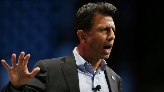 Louisiana Gov. Bobby Jindal, a GOP presidential candidate, speaks during the Sunshine Summit conference in Orlando, Fla., on Saturday.