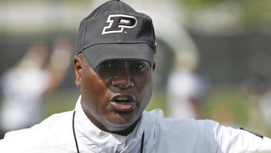 Purdue head football coach Darrell Hazell