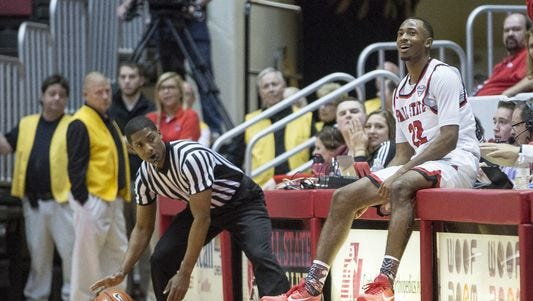 Ball State University played against Miami Saturday afternoon in Worthen Arena. Ball State beat Miami 48-46.