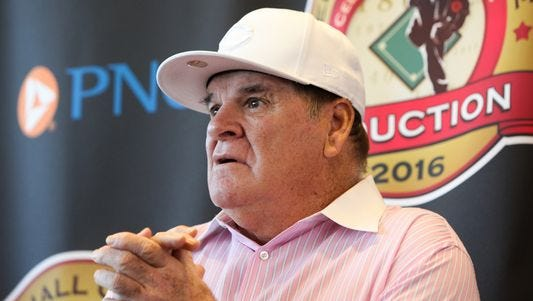 The Cincinnati Reds announced Tuesday that Pete Rose will be inducted to the Reds Hall of Fame. A statue of Rose will be unveiled at a later date and the No. 14 will be retired into the Hall of Fame.