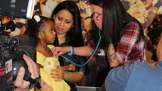 Mother of heart transplant recipient meets donor's mother for the first time.